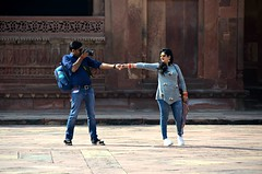 One of Those Pics (Pedestrian Photographer) Tags: fatehpur sikri india indian site fort ancient man woman couple photography camera photo opp photographer pose instagram