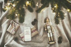 Presents (Graella) Tags: presents christmas merrychristmas winter magicwinter seasons cascanueces nutcracker candycane candy lights tree overhead flatlay