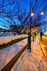 風雪夜歸人 (LaTur) Tags: snow dcist arlington street alley city urban