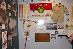 Troop #47 Boyscouts Fairhope, Al (King Kong 911) Tags: cokemachine fireengine flowers2 history murals2 museum stamps statue train1