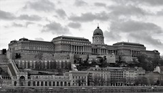 Buda Castle Hill Museums (Normann) Tags: hungary budapest blackandwhite castle museum