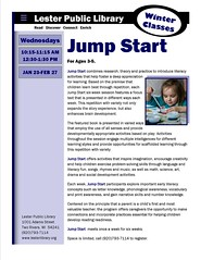 Jump Start (Lester Public Library) Tags: earlyliteracy literacy 365libs lesterpubliclibrary librariesandlibrarians lpl library lesterpubliclibrarytworiverswisconsin libraries libslibs publiclibrary publiclibraries childrensprogram childrenprograms childrensprogramming jumpstart tworiverswisconsin wisconsinlibraries readdiscoverconnectenrich