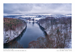 (Kamil Gawlak) Tags: f20 16mm 1620 samyang ricoh kp pentax overcast mood clouds sky forest trees water lake snow winter landscape thebp czocha poland