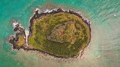 Mokoli'i aka Chinaman's Hat on Oahu (Corey Rothwell) Tags: drone aerial mavic hawaii kualoa island travel overhead top down