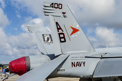"""Boeing F/A-18E Super Hornet of Strike Fighter Squadron 81 (VFA-81) """"Sunliners"""" from NAS Oceana (Norman Graf) Tags: boeing fa18e usn aircraft airplane 168909 vfa81 2017nasoceanaairshow airshow cagbird navalaviation fa18 sunliners ab400 attack carrierairgroup f18 f18e fighter hornet jet nasoceana plane strikefightersquadron81 superhornet unitedstatesnavy"""