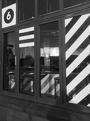 Former Dog Track Restaurant, Ormeau Avenue, Belfast (John D McDonald) Tags: flickrfriday monochrome mono bw blackandwhite blackwhite grey greyscale strip stripes striped stripy pattern patterns stripedpattern stripypattern window windows iphone iphone7plus appleiphone appleiphone7plus belfast linenquarter belfastlinenquarter linenquarterbelfast ormeauavenue armaghhouse dogtrack northernireland ni ulster geotagged camaïeu monocromático 单色 einfarbig monocromo monokrom monochroom yksivärinen monacrómach monocromatica monocromatico monochromia monocromática monocroma svartvit
