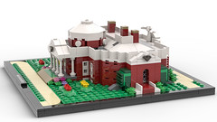 Monticello (Right Side) (dayman1776) Tags: lego moc own creation thomas jefferson monticello legos brick bricks ideas creative render 3d history america american founding father architecture beautiful house home microscale micro scale benbuildslego