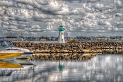 Prescott Ontario - Canada -  Sandra S Lawn Harbour  and Marina - Reflection - Light House (Onasill ~ Bill Badzo - 62 Million - Thank You) Tags: reflection reflections lens macro sigma sl1 rebel eos canon onasill site attraction heritage ships tall motor sail boats dock downtown marina harbour river lawrence st ontario lake grenvillecounty leedscounty canada on brockville sky boat clouds water bay prescott walk sea lakeontario lawerence 18250mm ship light house lighthouse rock tower