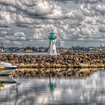 Prescott Ontario - Canada -  Sandra S Lawn Harbour  and Marina - Reflection - Light House thumbnail