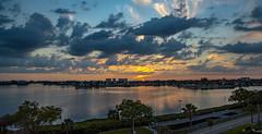 Sunset Boca Ciega Bay (vwalters10) Tags: sunset bay water cloud sky buildings florida flickrexploreme