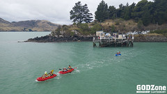 Paddling Lyttleton Harbour