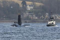 Unidentified RN Vanguard-class nuclear missile submarine (SSBN); Loch Long, Firth of Clyde, Scotland (Michael Leek Photography) Tags: ssbn submarine nuclearsubmarine nuclear nucleardeterrent vanguardclasssubmarine hmnbclyde hmnb hmsneptune faslane scotland tug gareloch lochlong rn royalnavy firthofclyde strone blairmore warship nato navalvessel britainsarmedforces britainsnavy trident michaelleek westcoastofscotland westernscotland scottishshipping scottishcoastline michaelleekphotography