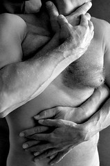 spoon (Matter is Spirit) Tags: male nude two men hug intimacy naked embrace body fine art artistic erotic light shadow