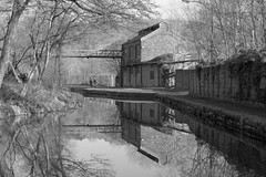 OldWorkings (Tony Tooth) Tags: nikon d7100 nikkor 50mm f18g bw blackandwhite monochrome canal wharf disused oldworkings towpath caldoncanal froghall staffs staffordshire england