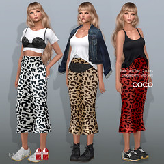 COCO New Release @my store (cocoro Lemon) Tags: coco new leopard skirt tanktop secondlife fashion maitreya slink belleza