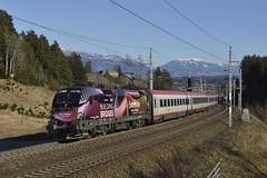 1116 180, IC 591 ( Villach -> Salzburg ). Pusarnitz (M. Kolenig) Tags: 1116 tauernbahn intercity wald berg