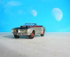 Corgi Toys No. 343 Pontiac Firebird 1969 With Red Spot Wheels : Diorama Futuristic Double Moon - 4 Of 13 (Kelvin64) Tags: corgi toys no 343 pontiac firebird 1969 with red spot wheels diorama futuristic double moon