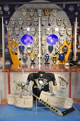 Marc-Andre Fleury (jpellgen (@1179_jp)) Tags: heinz history museum historymuseum pitt pittsburgh pgh pa pennsylvania winter march 2019 travel roadtrip nikon sigma 1770mm usa america d7200 nhl hockey penguins goal goalie masks mask marcandrefleury