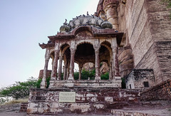 Part of Mehrangarh Fort in Jodhpur, India (phuong.sg@gmail.com) Tags: ancient antique architecture asia beauty brown building castle chamunda citadel city desert devi famous fort fortress heritage hill hindu historic history india indian jodhpur landmark maharajah medieval mehran mehrangarh monument mughal old palace rajastan rajasthan site sky stone thar tourism travel unesco view wall