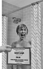 That legendary scene from the Hitchcock movie, Psycho. The way it really went down. (Fotofricassee) Tags: psycho hitchcock movie janet leigh sweepstakes shower scream