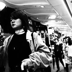 Street snap! (takana1964) Tags: streetphotography snap streetsnap street snapshot streetshot citysnap citystreet city cityphotography blackandwhite bw monochrome kyotocity japan olympus woman