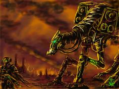 Decibel Devastation (RedRoofArt) Tags: drawingbox art devastation aliens warfare scify fantasy sonic destruction fire war