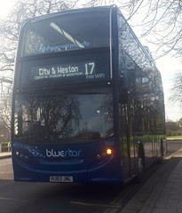 Bluestar 1561 is on Commercial Road while on route 17 to City and Weston. - HJ63 JNL - 9th January 2019 (Aaron Rhys Knight) Tags: bluestar 1561 hj63jnl 2019 commercialroad southampton hampshire gosouthcoast goahead alexanderdennis enviro400