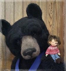 Keebler & his big bear buddy (Jonquil O) Tags: keebler bjd fairyland papilio tiny
