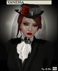 Vanessa with Veil (CogandFleur) Tags: victorian edwardian turnofthecentury belleepoque