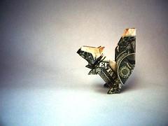 Dollar Squirrel - Janessa Munt (Rui.Roda) Tags: origami papiroflexia papierfalten esquilo ardilla écurreuil money folding bill buck one dollar squirrel janessa munt