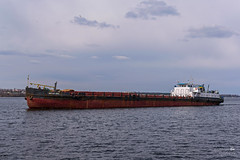 "Баржа ""Свята Анна"" (ucrainis) Tags: barge transportation ship ukraine dnieper river water zaporizhzhia autumn anna cloudy"