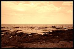 San Teodoro (Claudio Taras) Tags: claudio contrasto canona1 s fd50mm superia200 sepia toned film 35mmfilm onde cielo roccie taras sardegna santeodoro