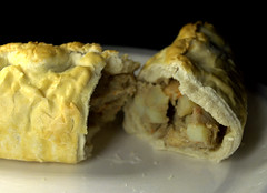Inside a Cornish Pasty (Tony Worrall) Tags: add tag ©2019tonyworrall images photos photograff things uk england food foodie grub eat eaten taste tasty cook cooked iatethis foodporn foodpictures picturesoffood dish dishes menu plate plated made ingrediants nice flavour foodophile x yummy make tasted meal nutritional freshtaste foodstuff cuisine nourishment nutriments provisions ration refreshment store sustenance fare foodstuffs meals snacks bites chow cookery diet eatable fodder ilobsterit instagram forsale sell buy cost stock cornish pasty pie meat bake inside