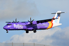 EI-REM Flybe ATR 72-500 EGNS 30/1/19 (David K- IOM Pics) Tags: iom isleofman isle man ronaldsway airport egns be bee jersey flybe purple stk stobart air atr atr72 72 72500 at75 ei eirem