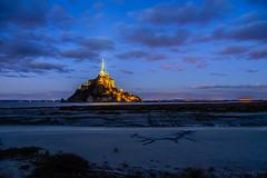 Mont Saint Michel (grand Yann) Tags: montsaintmichel paysage nuageux hiver eglise architecture europe bretagne nuit france mer church clouds cloudy landscape night nuages sea winter