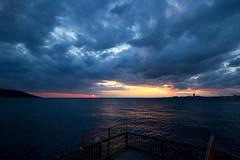 So far away (joshua htm) Tags: gulf cloud dusk magichour night coast bay set sun sunset sea