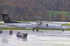 OE-LGR | Austrian Airlines | De Havilland Canada DHC-8-402Q Dash 8 | CN 4045 | Built 2001 | ZRH/LSZH 13/11/2018 | ex C-GPDJ, D-ADHC | Star Alliance CS (Mick Planespotter) Tags: aircraft airport 2018 kloten dash8 zurich nik sharpenerpro3 prop turboprop oelgr austrian airlines de havilland canada dhc8402q dash 8 4045 2001 zrhlszh 13112018 cgpdj dadhc star alliance cs