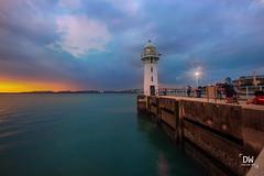 Lighthouse Cloudy Sunset (denniswzj) Tags: sunset rafflesmarina raffles marina singapore sea lighthouse landscape 1635mm canon eos5dmkiii