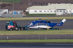 VH-NYZ S-92A Babcock Prestwick 04.03.19 (Robert Banks 1) Tags: vhnyz sikorsky s92a s92 helicopter babcock offshore australia prestwick egpk pik lorry