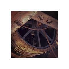 Dinorwic quarry wheel house (Jeremy Silver) Tags: fuji velvia100 film slide transparency wales uk snowdonia abandoned detail landscape industry slate
