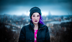 Cinematic (joshhansenmillenium) Tags: canon canon6d 6d photography modeling nikon 50mm model freelance sunset winter snow snowy cold weather wind clouds cloudy overcast bw