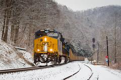Clinchfield Snow at Allen (Peyton Gupton) Tags: csx csxt kp kingsport sub allen clinchfield snow coal