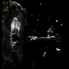 Hilted Bomber (HidekiSynth) Tags: dark photo art horror secondlife screenshot photoshop layers mask