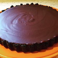 Chocolate Ganache Tart ..... (steamboatwillie33) Tags: food dessert delicious peanutbutter chocolate 2019 tart kitchen snack todiefor sorichanddelicious homemade oreos ganache