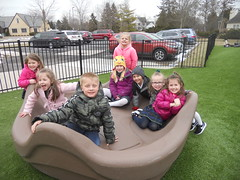 Fresh Air: The kindergartners are so excited to be able to go outside again to get fresh air and exercise. (st.brigid2) Tags: march