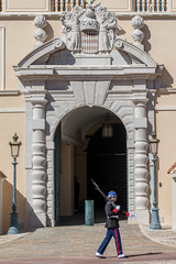 Entrance and Guard, Facade,  Prince's Palace, Monaco (Peter Cook UK) Tags: france palace sentry coat monaco entrance arms 2019 guard princes