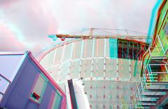 Nieuwbouw Depot Boijmans Rotterdam 3D (wim hoppenbrouwers) Tags: nieuwbouw depot boijmans rotterdam 3d anaglyph stereo redcyan 1224mmnikkor