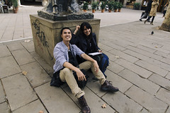 Me and Salma (Duong RKUDO) Tags: friend barcelona spain memory historic plaza street rkudo studentlife