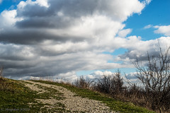 Der steinige Weg in das Ungewisse (günter mengedoth) Tags: carlzeissjenaflektogon450 carl zeiss jena flektogon 450 pentaxk1 pentax pk p6 pentaconsix altglas historisch manuell landschaft wolken