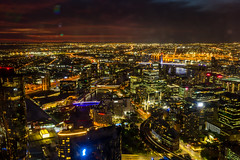 Melbourne Nights (Jared Beaney) Tags: canon6d canon australia australian photography photographer travel victoria melbourne city cityscapes cityscape eurekaskytower view views night lights